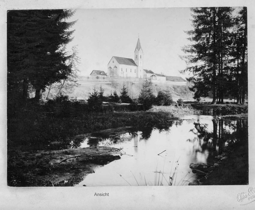 Historische Aufnahme der Ludwigsthaler Kirche