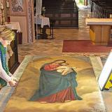 Das Marienbild wurde gereinigt und teilrestauriert