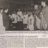 1998 ist erstmals Hl. Firmung in der Pfarrkirche Ludwigsthal.