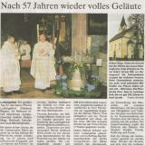 Zeitungsbericht zur Glockenweihe