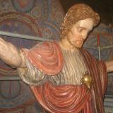 Christusfigur mit Herz Jesu
