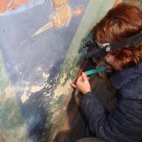 Reinigung und Festigung der Wandmalerei