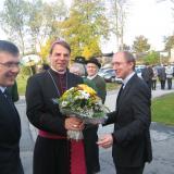 Unser Pfarrer Martin Prellinger mit Bischof Oster und Kaplan Grillhösl